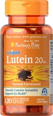 Lutein 20 mg with Zeaxanthin - 120 Softgels