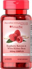 Raspberry Ketones and White Kidney Bean 600mg Complex