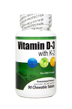 D-3 + K-2 - 90 non-GMO Chewable Tablet