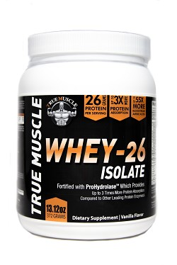 TM 26 - Whey Isolate with 26 grams of protein per scoop with Prohydrolase for 3 times the Absorption - Vanilla