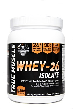 TM 26 - Whey Isolate with 26 grams of protein per scoop with Prohydrolase for 3 times the Absorption - Chocolate