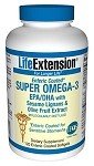 Super Omega-3 EPA/DHA w/ Sesame Lignans & Olive Fruit Extract, 120 enteric coated softgels